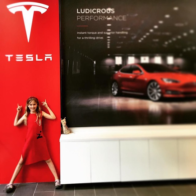 120/365 • the closest we'll get to a #tesla • . #smalls #sydney #bellalunaboat #Autumn2017 #red #visitnsw #9yo #zmow