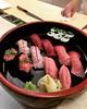 Tuna on tuna on tuna. #sushi #nyc #お鮨 #魚がし