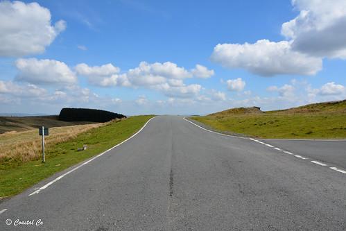 b4519 redkiteview powys wales uk 2017 road unlimitedphotos scene sky clouds