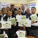 Vredenburg learners reading Kropz brochures_2165
