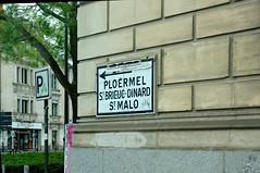Panneau Ploermel, Saint-Brieuc, Dinard, Saint-Malo