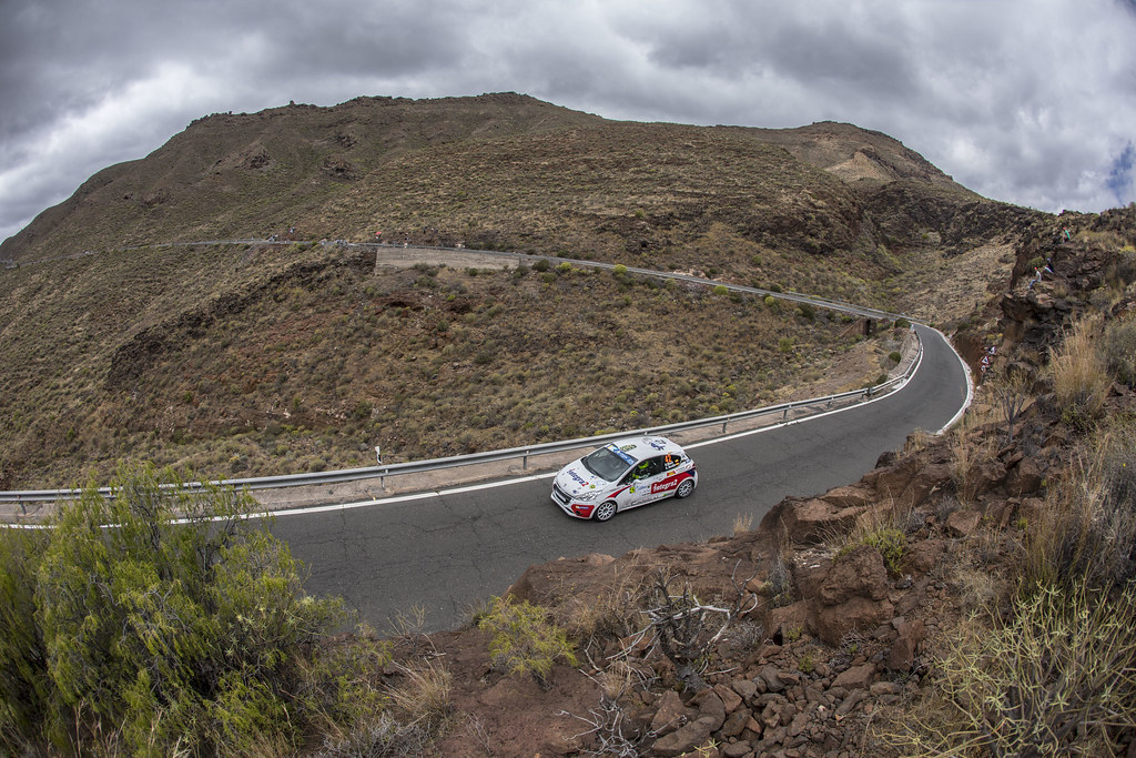 42 BLACH NUNEZ  Roberto (ESP), DELGADO Ariday  Bonilla (ESP), PEUGEOT 208 VTI R2, Action during the 2017 European Rally Championship ERC Rally Islas Canarias, El Corte Inglés,  from May 4 to 6, at Las Palmas, Spain - Photo Gregory Lenormand / DPPI