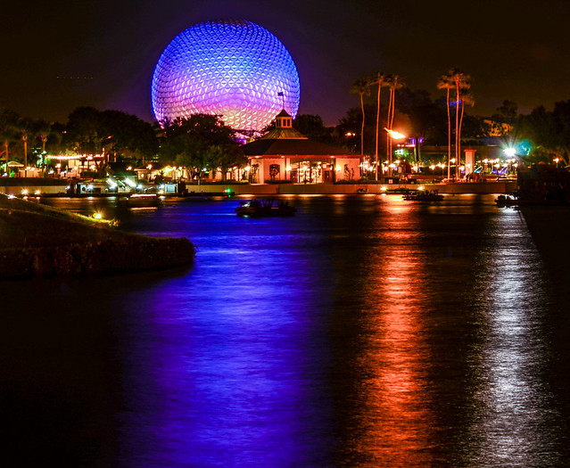 SSE night across water Epcot