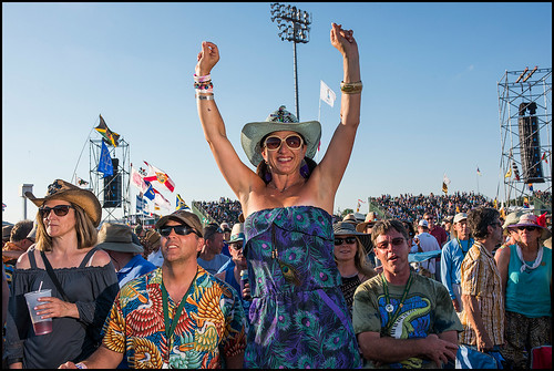 People enjoying Stevie Wonder at Jazz Fest day 6 on May 6, 2017. Photo by Ryan Hodgson-Rigsbee www.rhrphoto.com