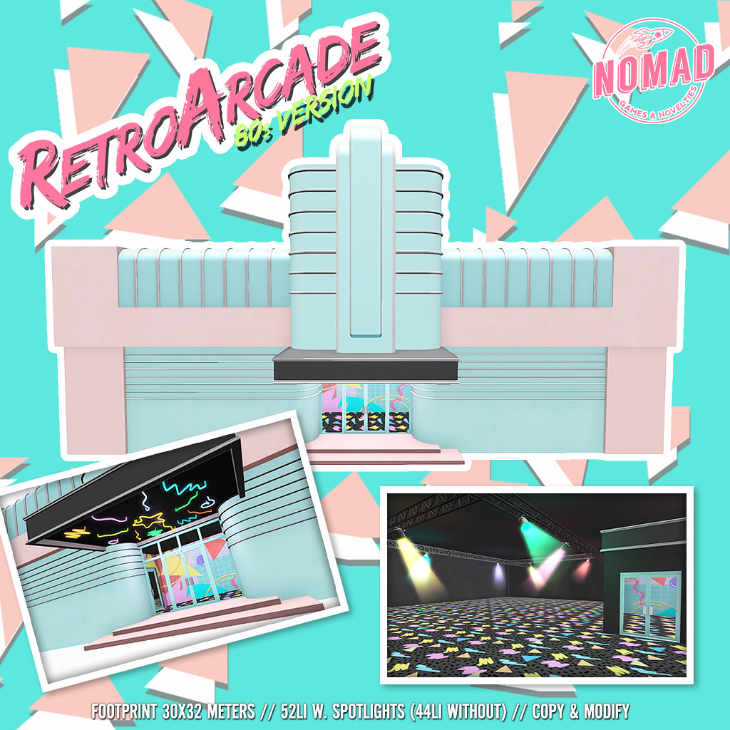 NOMAD // Retro Arcade - 80s Version - SecondLifeHub.com