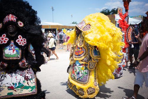 Mardi Gras Indian at Jazz Fest 2017. Photo by Ken Maldonado.
