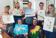 Fun times painting watercolor with my mom and sisters!!!! Happy Mother's Day !