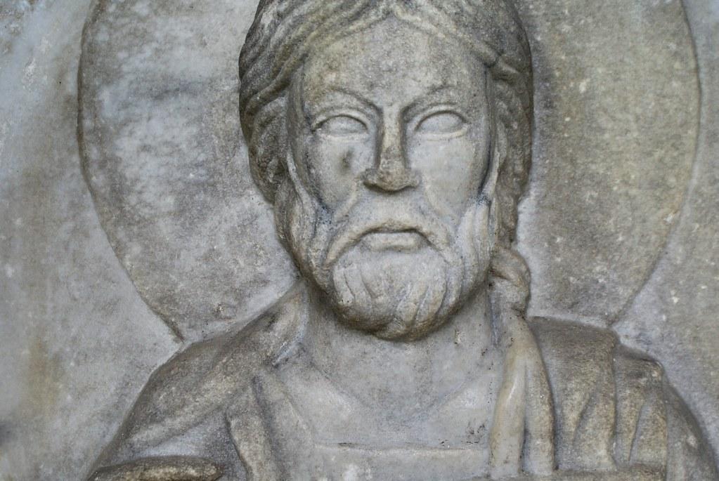 Sculpture de Jésus dans le musée Sant'Agostino à Gênes.