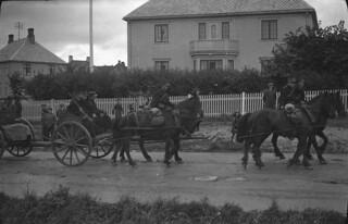 Transport av feltkanon - Militæroppvisning ved Kristiansten festning (1932)
