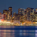 Lonsdale Quay look at Downtown Vancouver at Blue Hour May 6, 2017