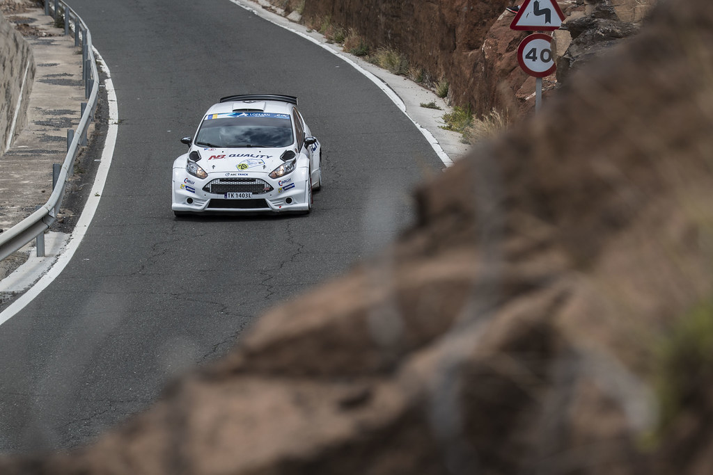 20 KOLTUN Jaroslaw (POL), PLESKOT Ireneusz (POL), Ford Fiesta R5 Action during the 2017 European Rally Championship ERC Rally Islas Canarias, El Corte Inglés,  from May 4 to 6, at Las Palmas, Spain - Photo Gregory Lenormand / DPPI