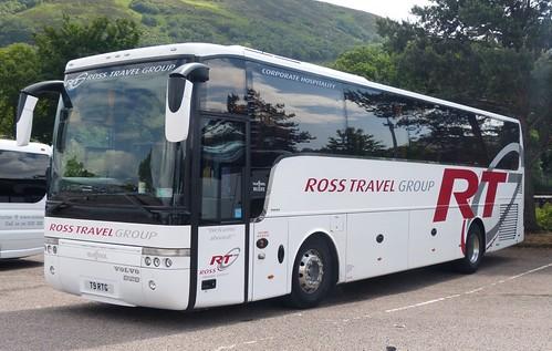 T9 RTG 'Ross Travel' 'Scania K1241B / Van Hool Alize T9 on 'Dennis Basford's railsroadsrunways.blogspot.co.uk'