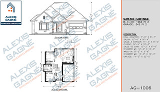 Plan de maison 1 étage avec garage - MM1eG.02