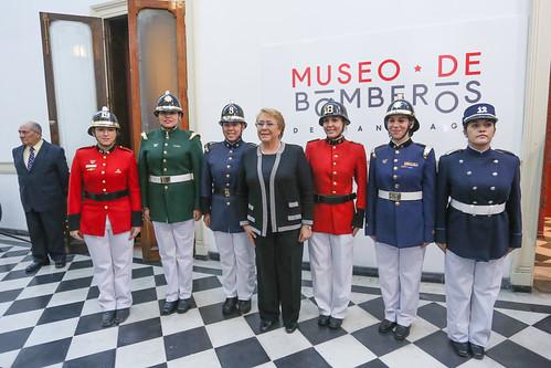 inauguración del Museo del Cuerpo de Bomberos de Santiago
