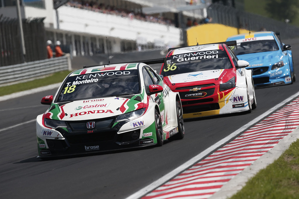 18 MONTEIRO Tiago (prt), Honda Civic team Castrol Honda WTC, action during the 2017 FIA WTCC World Touring Car Race of Hungary at hungaroring, Budapest from may 12 to 14 - Photo Jean Michel Le Meur / DPPI