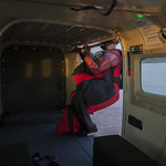 Wingsuiter exiting the airplane