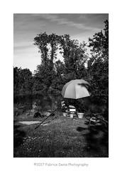 Sous le parapluie... Le pêcheur