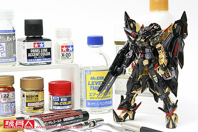 異端鋼彈金色機 天蜜娜:金屬骨架噴塗配色法