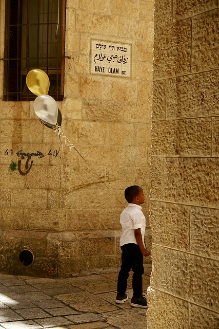 Someone's birthday, Old City, Jerusalem, Israel
