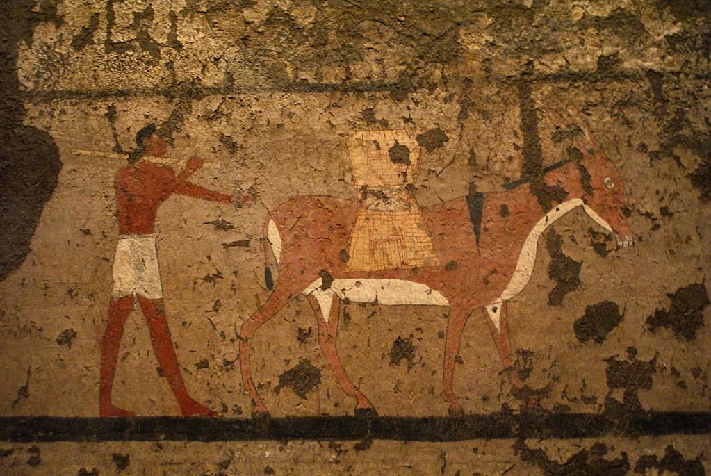 Dessin représentant des travaux agricoles dans le musée egyptien de Turin.