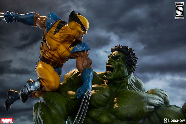 Sideshow Collectibles【浩克VS金剛狼】Hulk and Wolverine 1/4 比例全身雕像作品