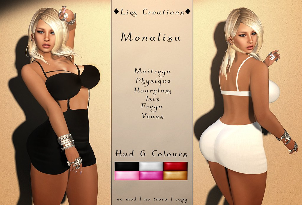 Monalisa Dress w.HUD Fatpack - SecondLifeHub.com