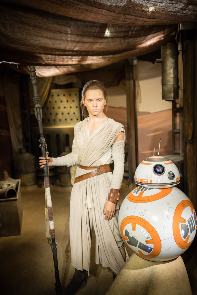Daisy Ridley as Rey with BB-8