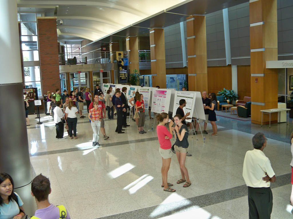 Balcony view of poster session