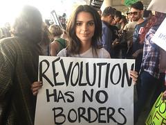Emily Ratajkowski Protests Trump at LAX - Los Angeles, CA