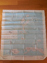 No. 21 Halmahera (1944) AAF Cloth Map: SW Pacific Area (Indonesia and New Guinea)