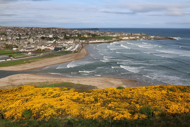 23rd April 2017. Banff from the Hill of Doune near Macduff, Banffshire, Scotland