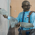 `Sam The Postman`  Sculpture (2001) by Robert St. Croix, The Corporate Park of Staten Island, Bloomfield, New York City