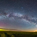 Milky Way Rising and Aurora on a May Night by Amazing Sky Photography