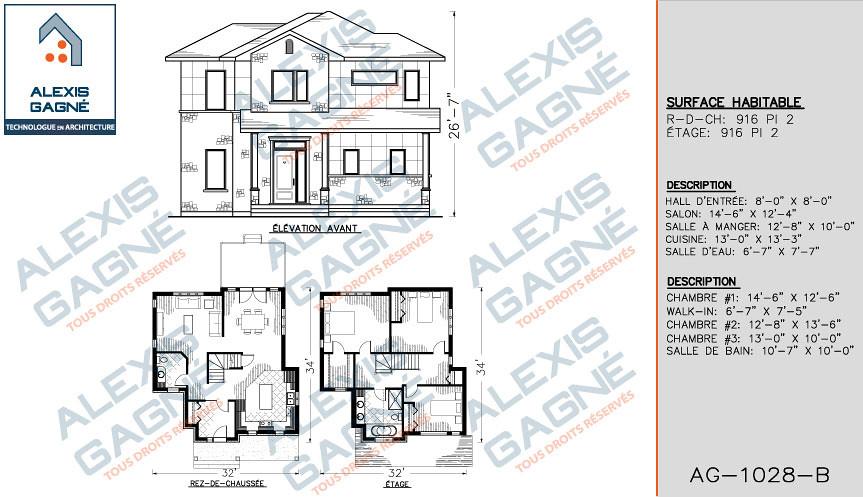 Maison Etage Sans Garage Victoriaville Alexis Gagné - Plan maison 2 niveaux