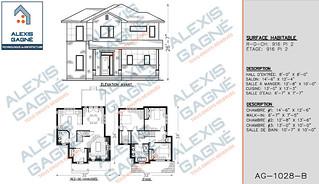 Plan de maison 2 étages - MM2e.04