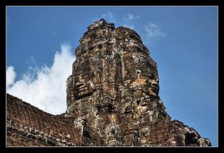 Siem Reap K - Bayon stone face 02