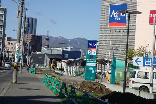 アリオとテレビ塔と砥石山