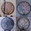 Photo:大分県別府市 #manhole フラワーシティBeppu バージョン 5月(ツツジ・シバザクラ) 6月(アジサイ・マーガレット) 7月(ムクゲ・サルビア) 8月(サルスベリ・ヒマワリ) #nincolle By tadayoshi527