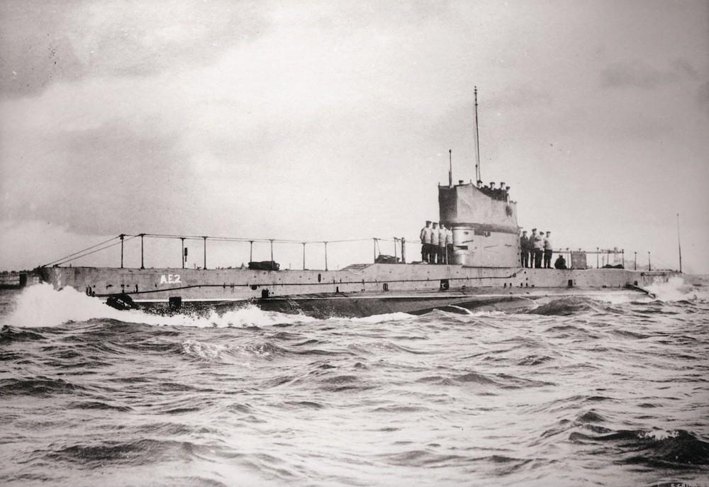 ae2 at sea