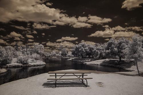 santeelakes table water sky clouds nature polarizer ir infrared infraredphotography convertedinfraredcamera composition