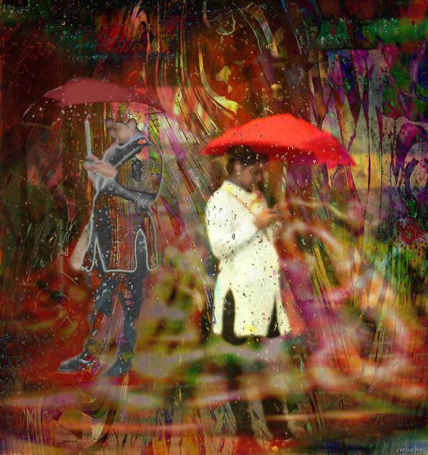 .. strange occurrences in the rain..