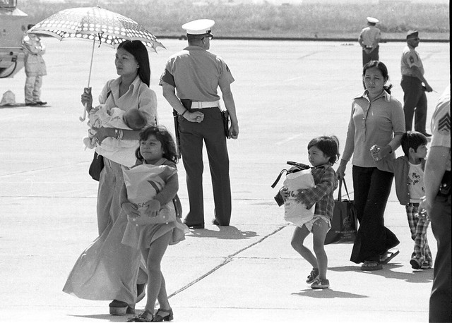 First Vietnamese refugees arrive at El Toro Marine Air Station.