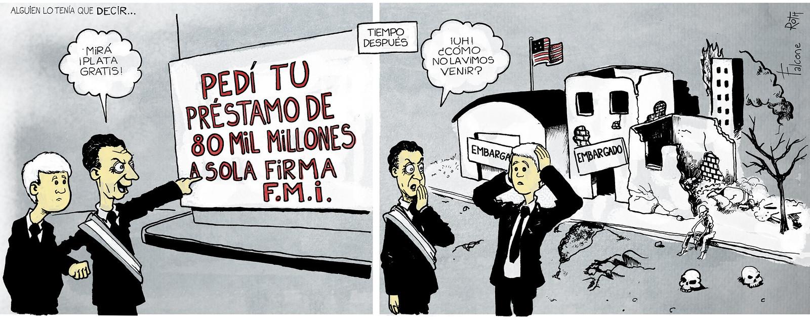 plata gratis para Mauricio Macri y Marcos Peña