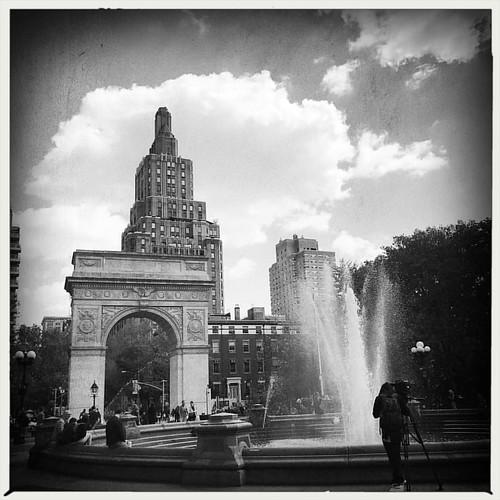 On my way through Washington Square Park - I love our city