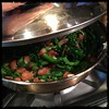 #rapini and Romano #beans #Homemade #CucinaDelloZio - cover and simmer