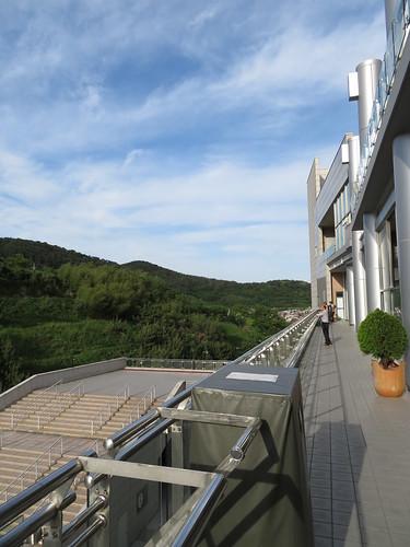 釜山慶南競馬場の3階からの眺め