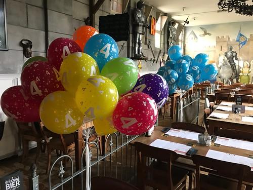 Heliumballonnen 4 Jaar Wapen van Poortugaal