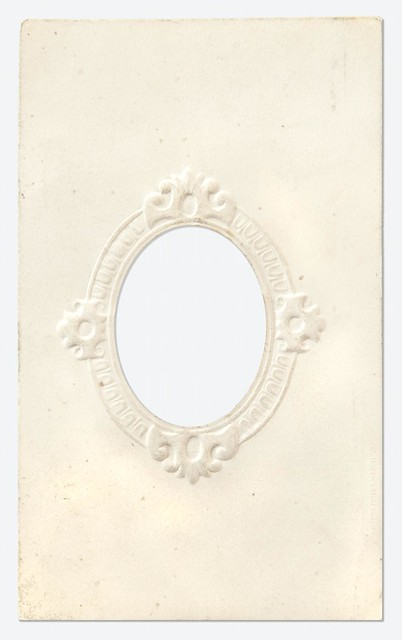 Oval embossed card