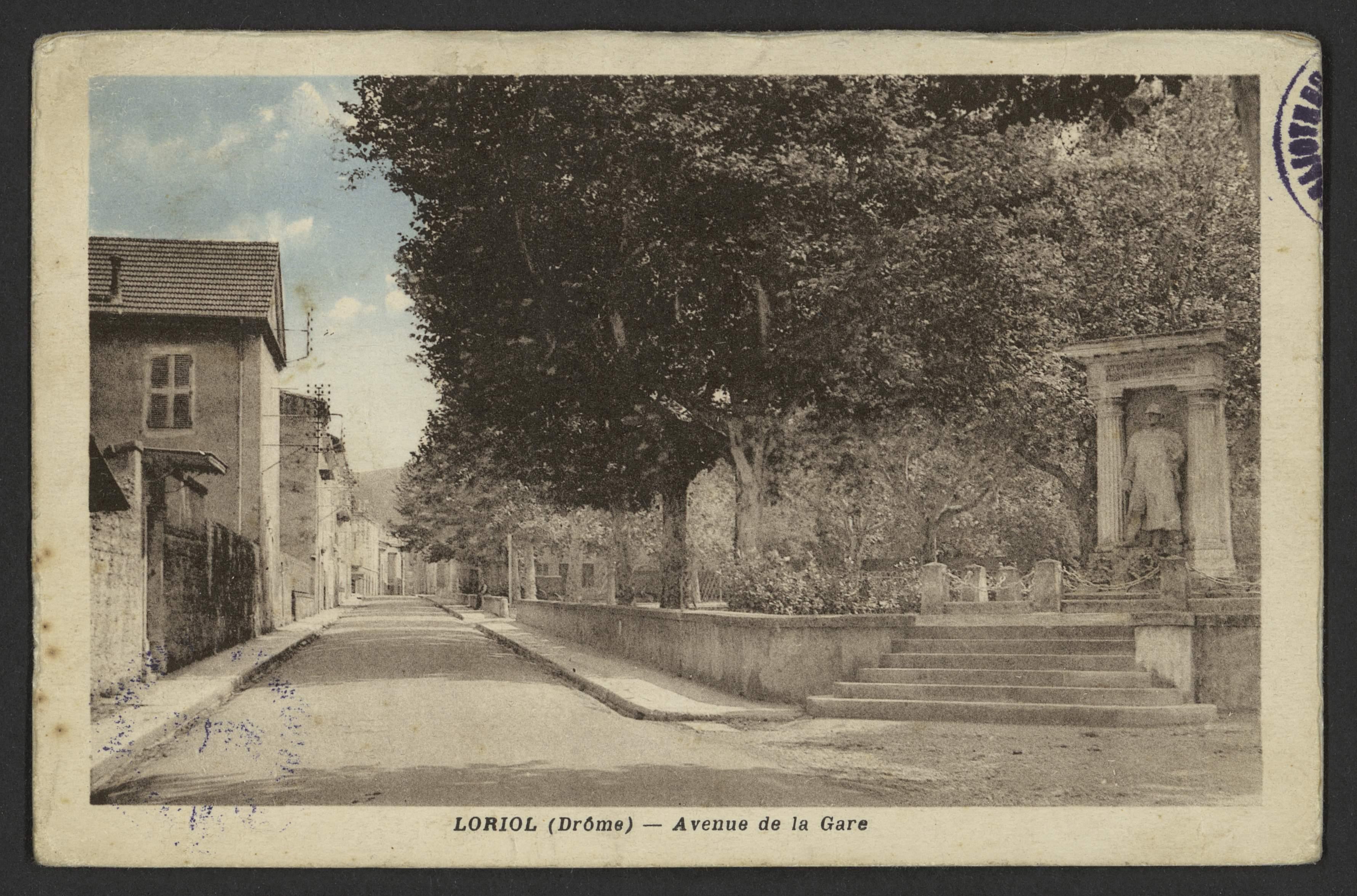 Loriol (Drôme) - Avenue de la Gare