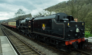 20170330-30_Black Five Engine 5MT 45407 + Train coming in to Levisham Station